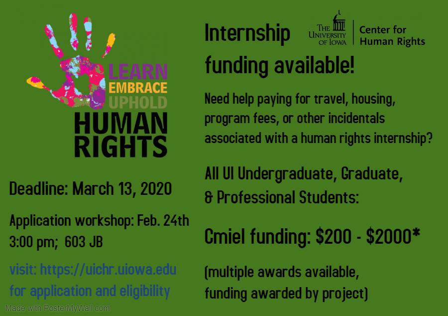 Kenneth Cmiel Internship Funding Opportunities and Deadlines
