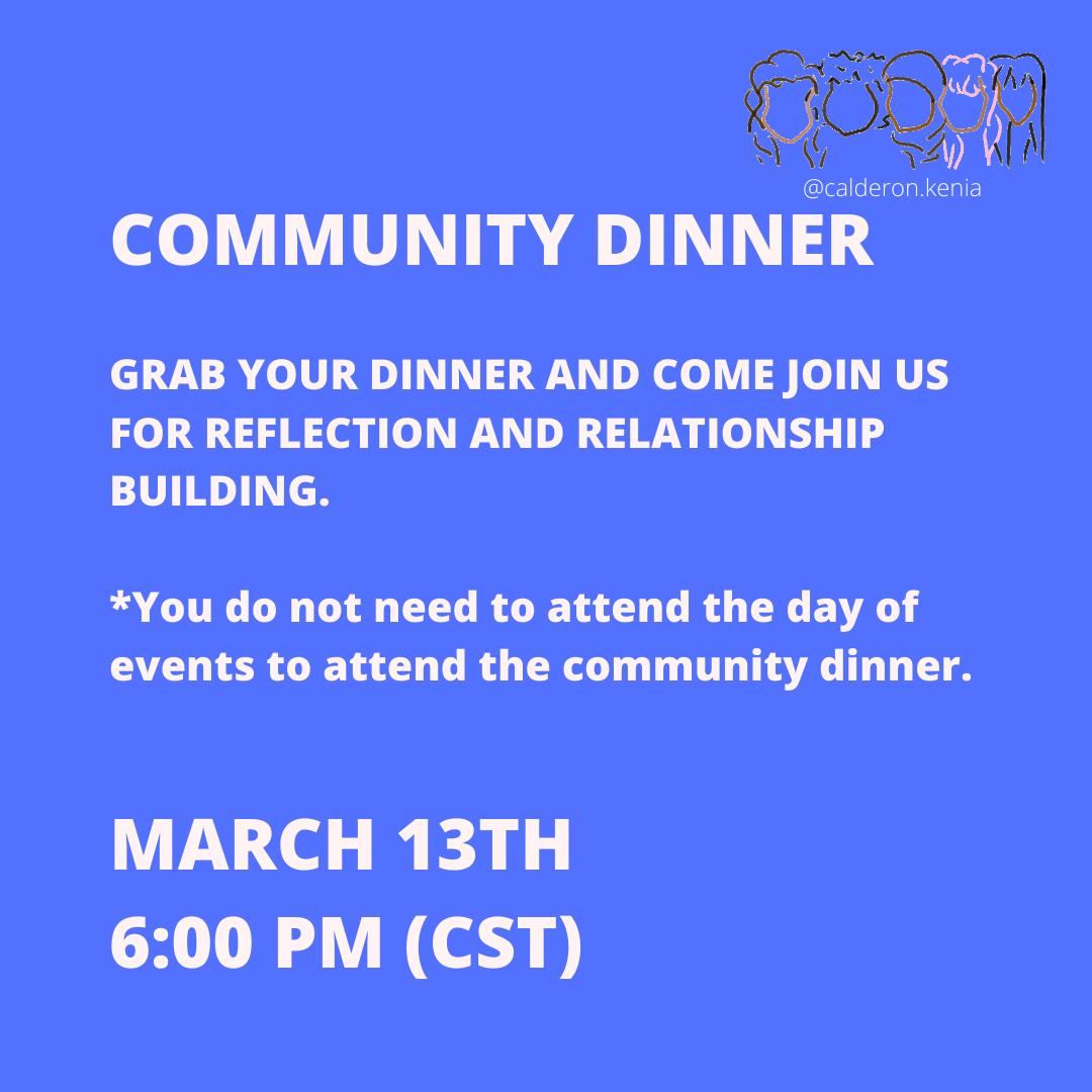 Womxn's Summit Weekend 1 Community Dinner