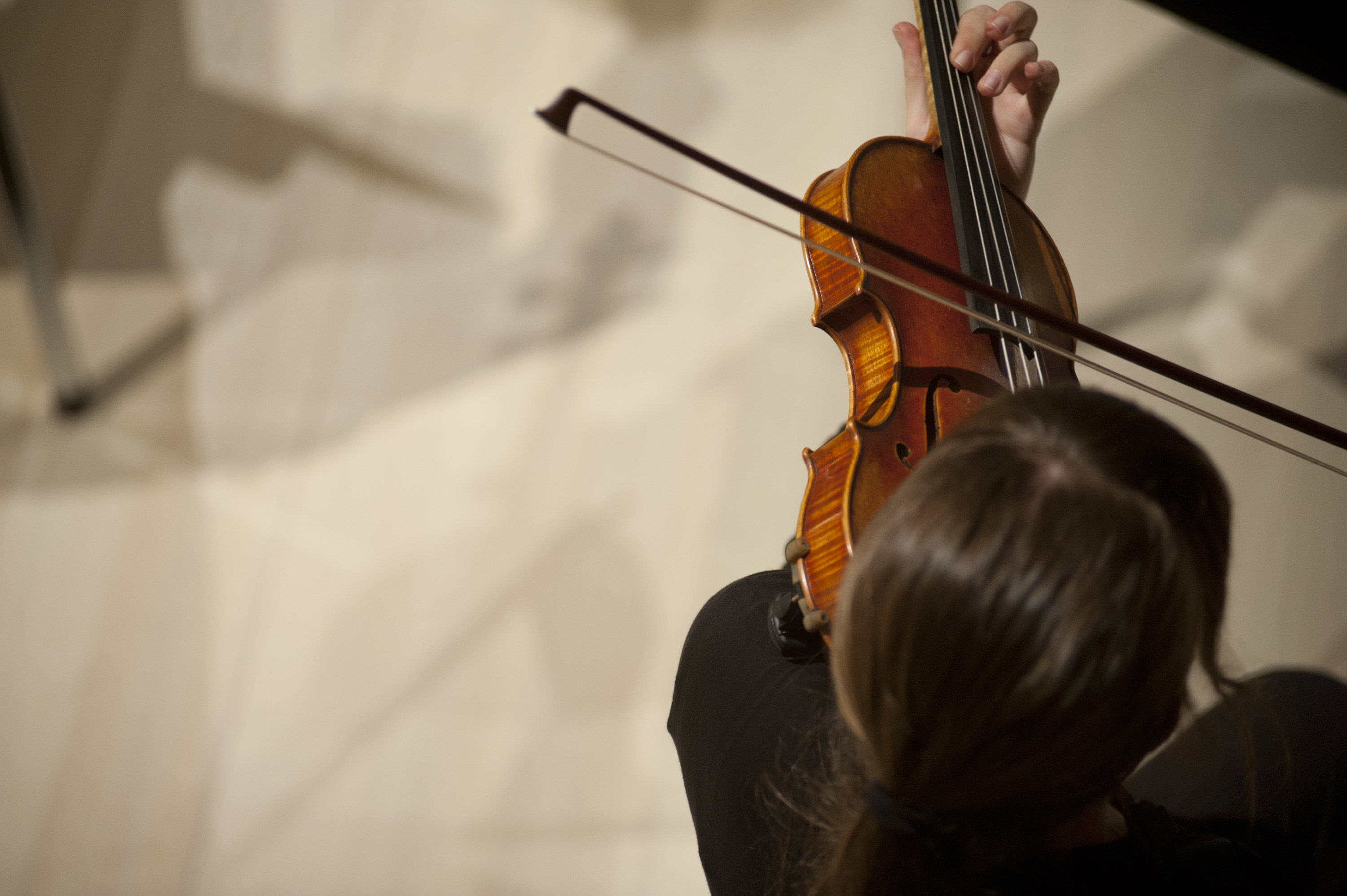 violinist performing in a concert