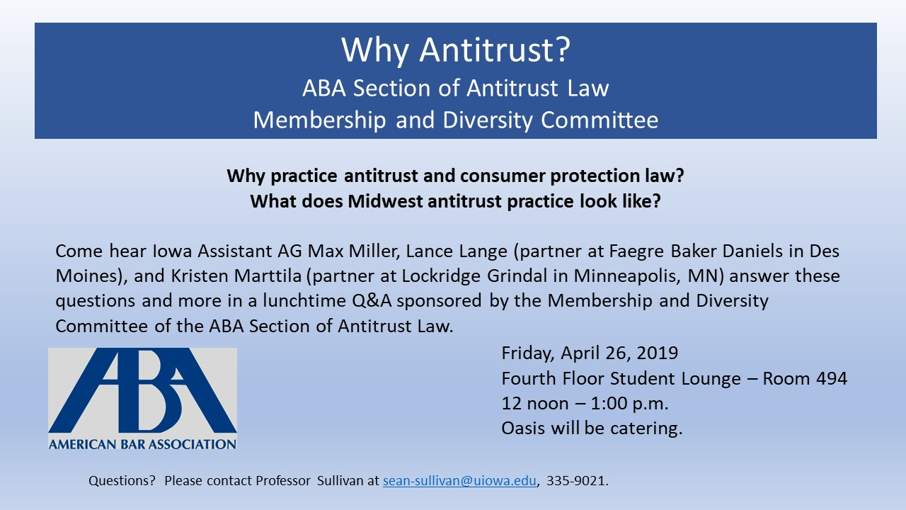 Why practice antitrust and consumer protection law?  What does Midwest antitrust practice look like?
