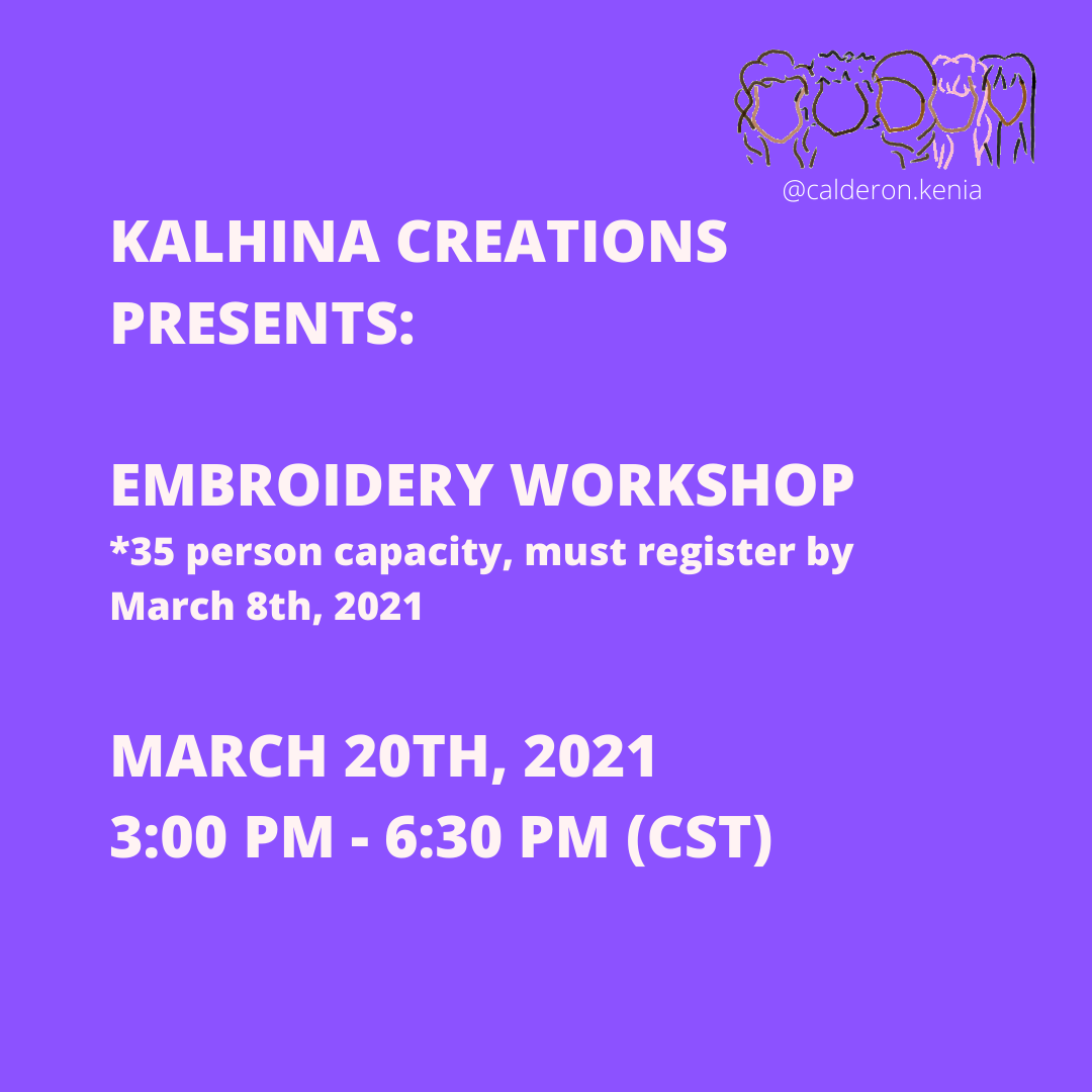 Womxn's Summit Embroidery Workshop led by Kalhina Creations
