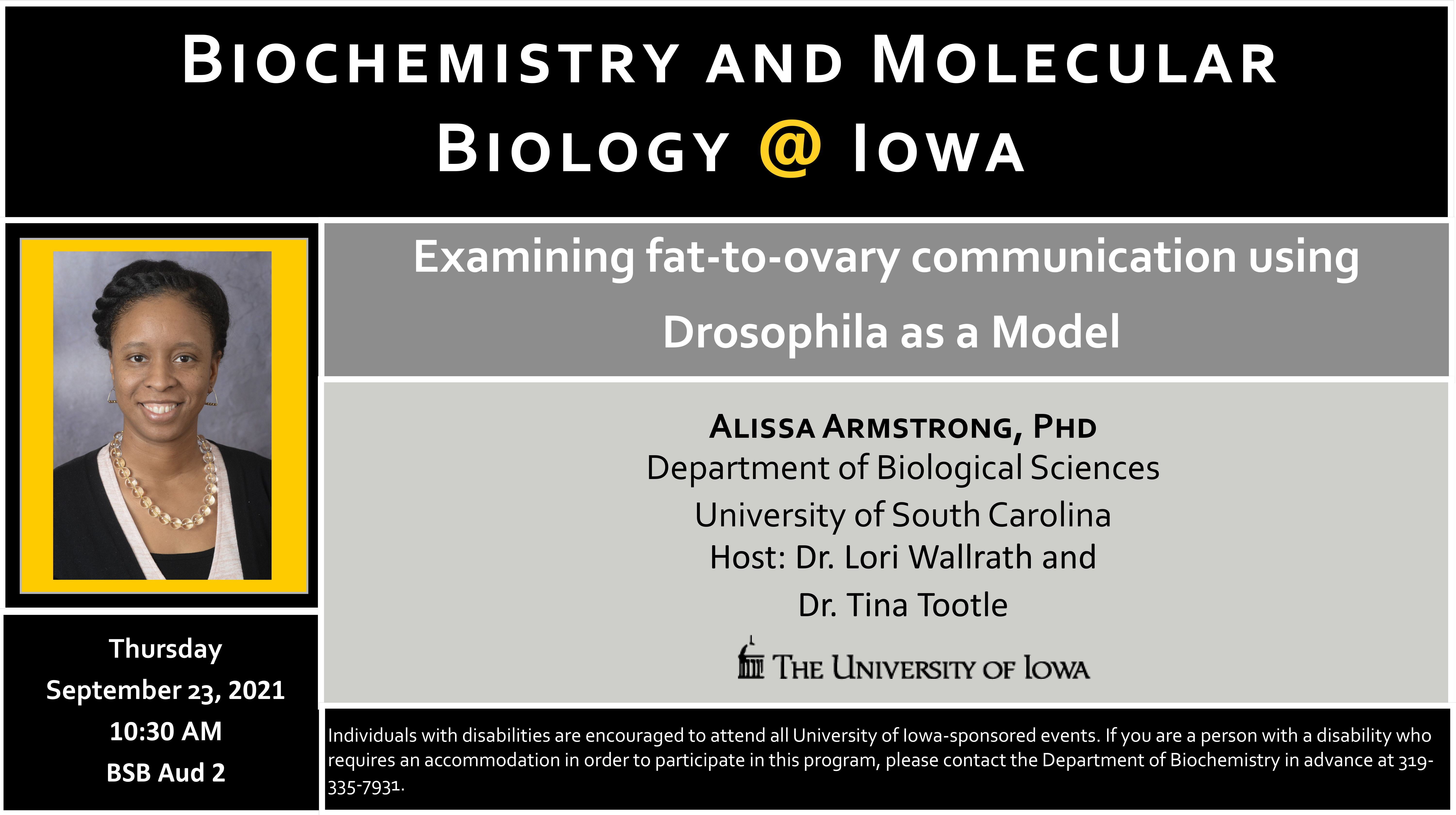 Anatomy and Cell Biology Weekly Seminar promotional image