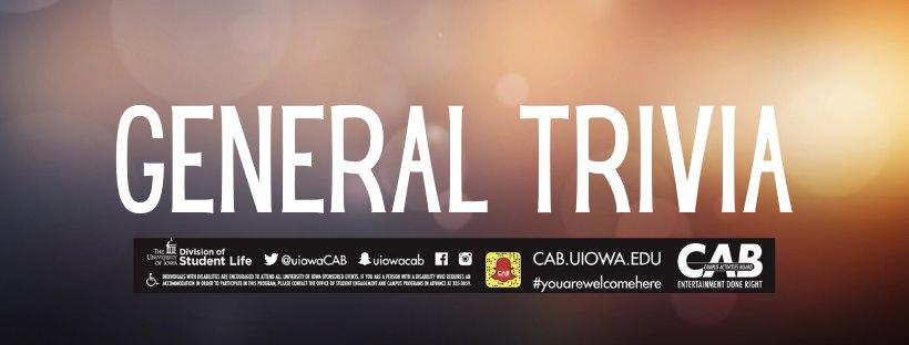 CAB Presents: General Trivia