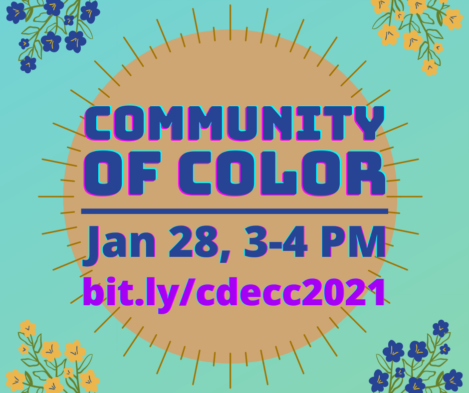 Community of Color Event Advertisement