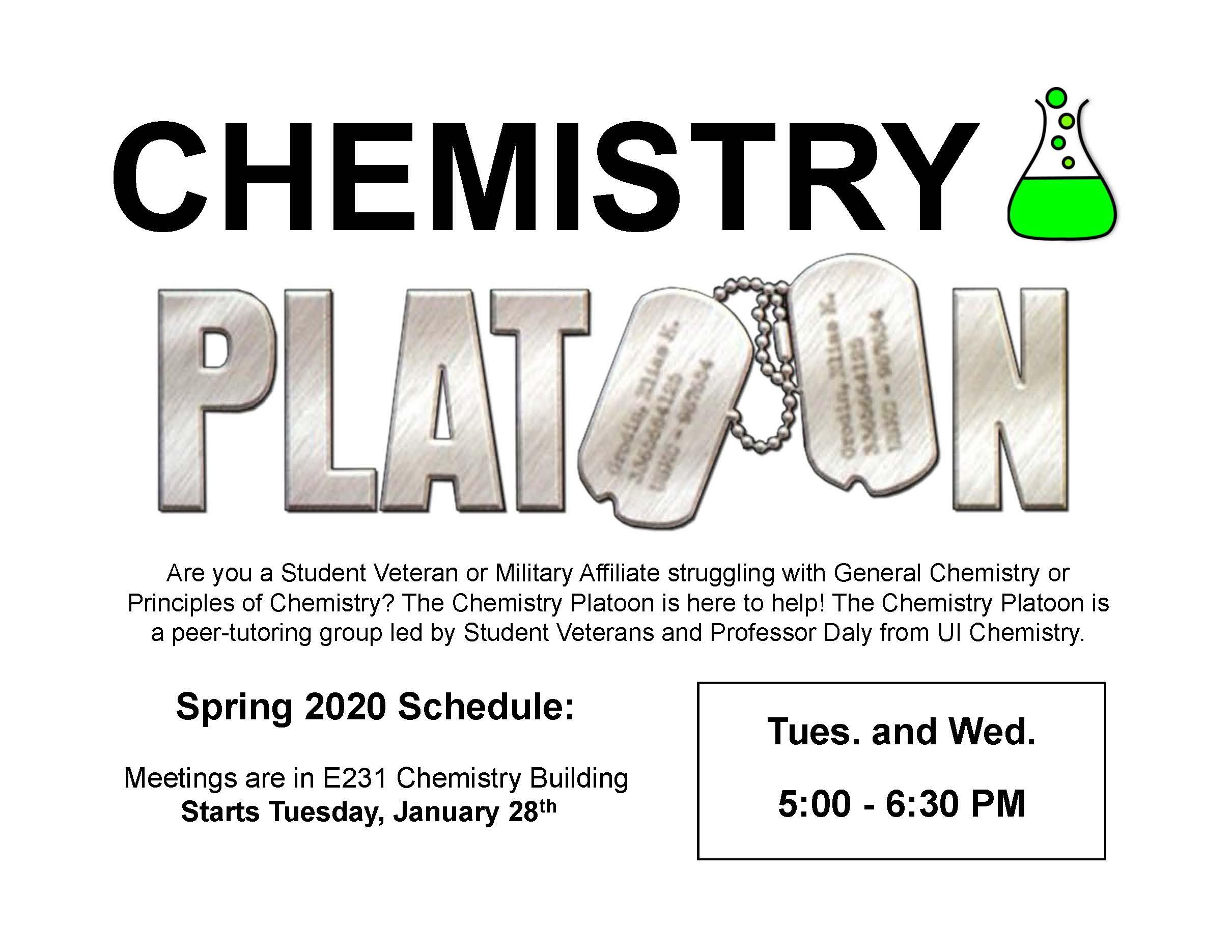 Chemistry Platoon Spring 2020 Flyer