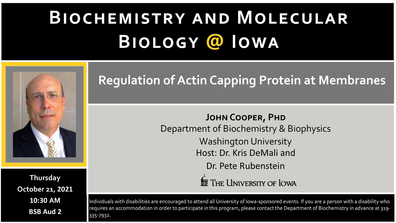 Biochemistry Seminar- Dr. John Cooper promotional image
