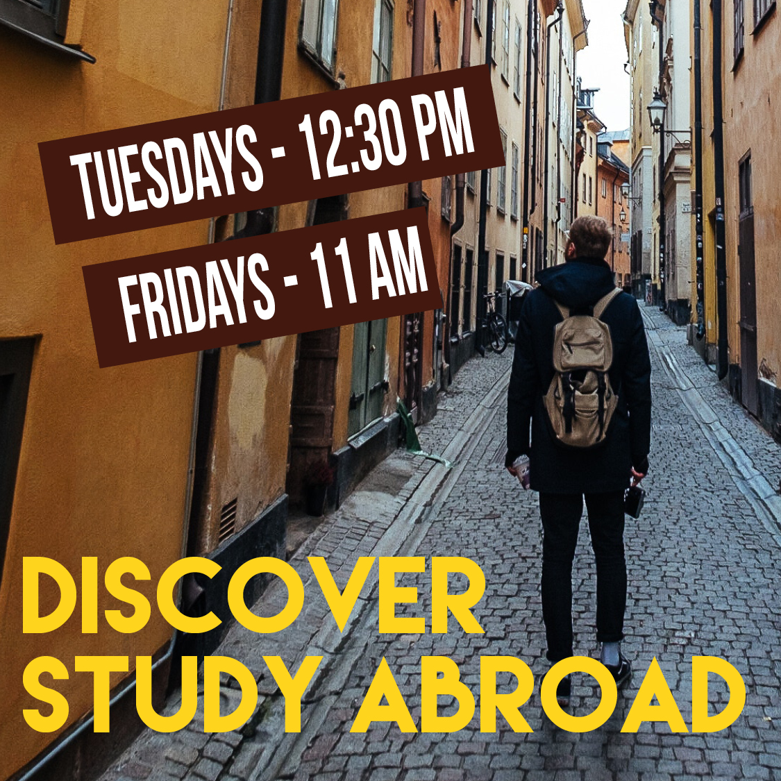 Discover Study Abroad Poster