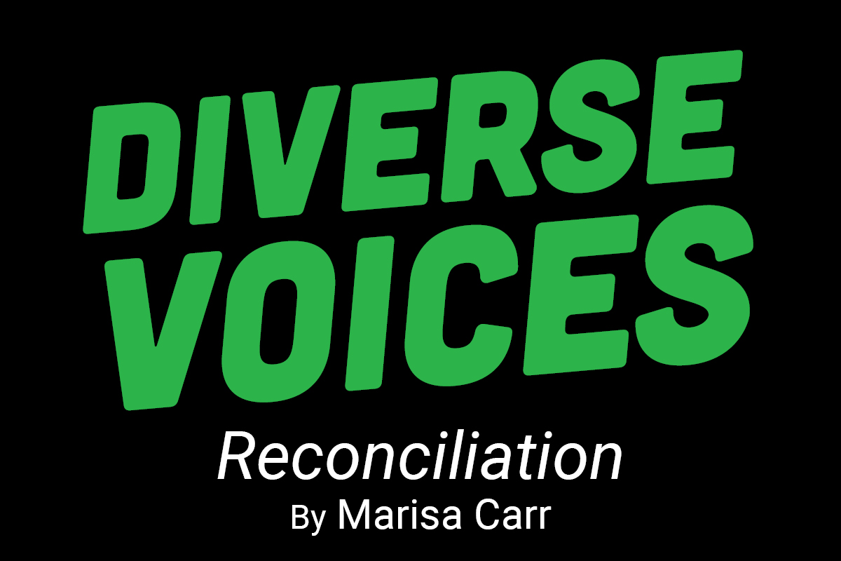 Diverse Voices. Reconciliation by Marisa Carr.