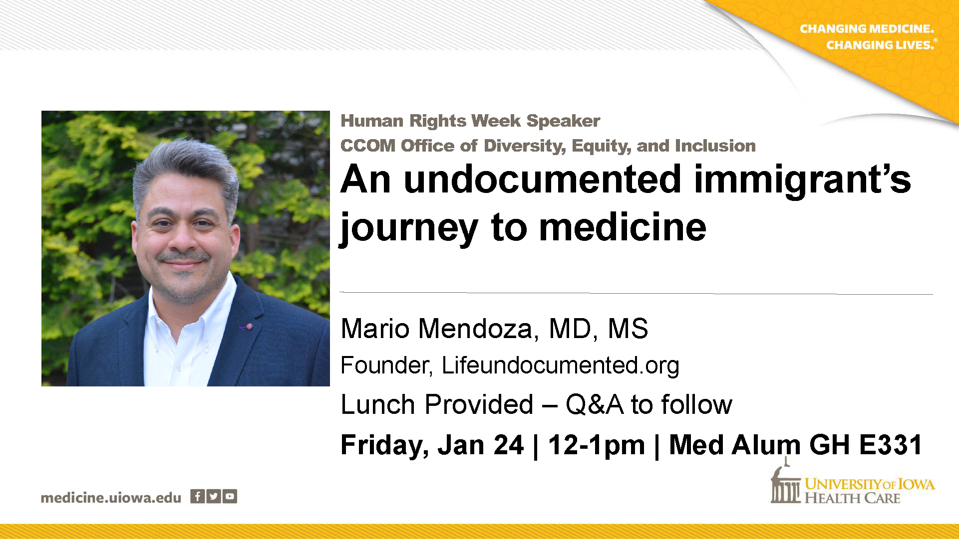 Dr. Mario Mendoza, Life UNdocumented