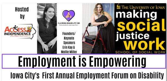 Cancelled / Postponed Employment Is Empowering: Disability + Employment Forum promotional image
