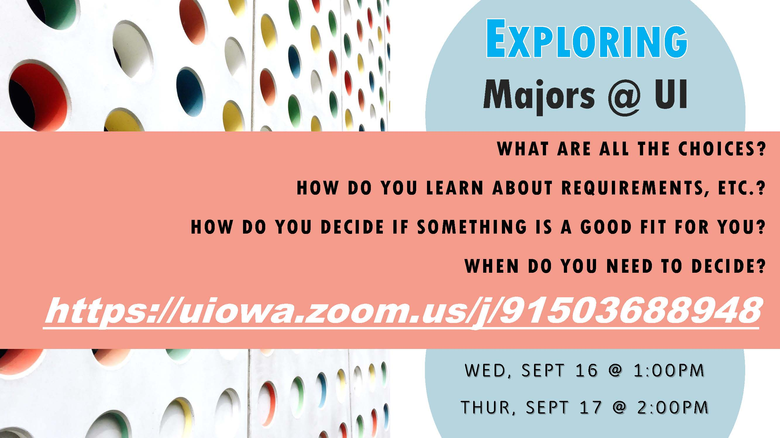 invitation to Exploring Majors @ UI