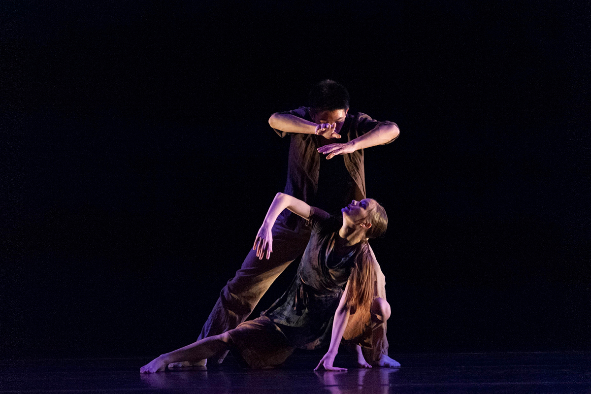 Photo of male and female dancer.