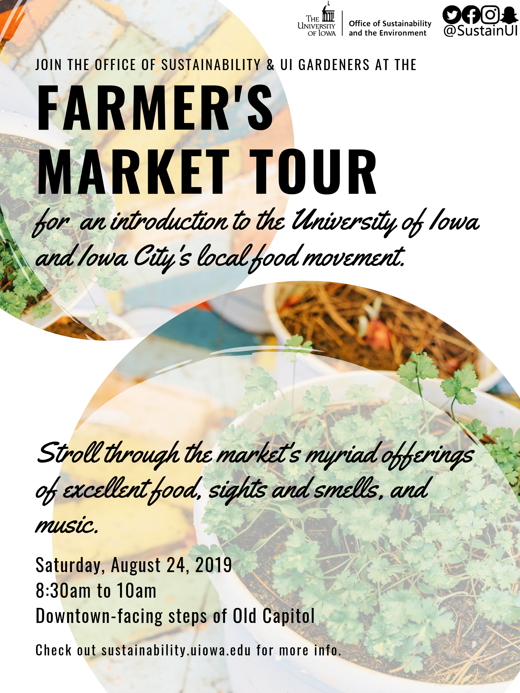 2019 Farmer's market tour office of sustainability