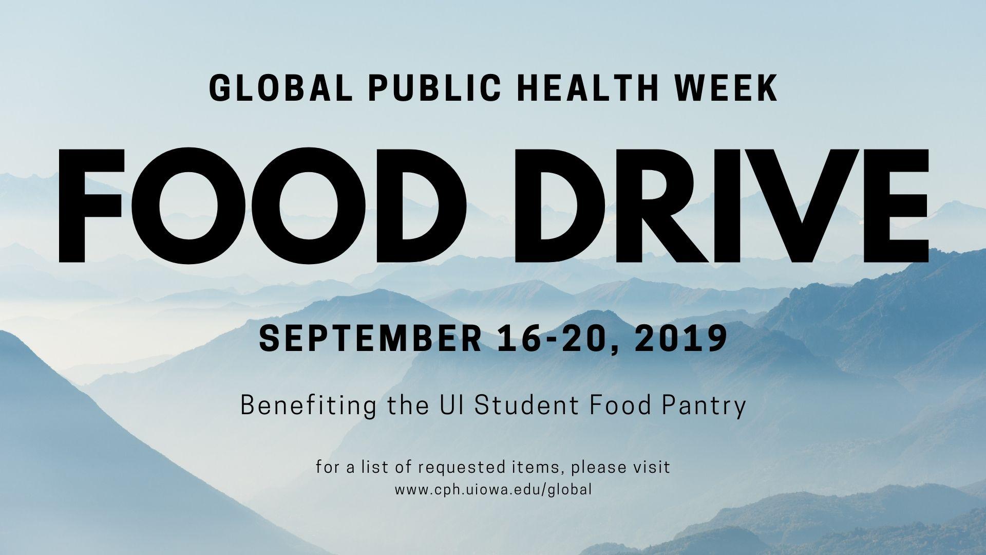 global food drive 2019