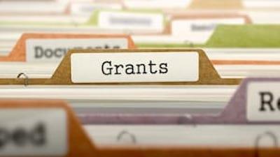 """File folder labeled """"Grants"""""""