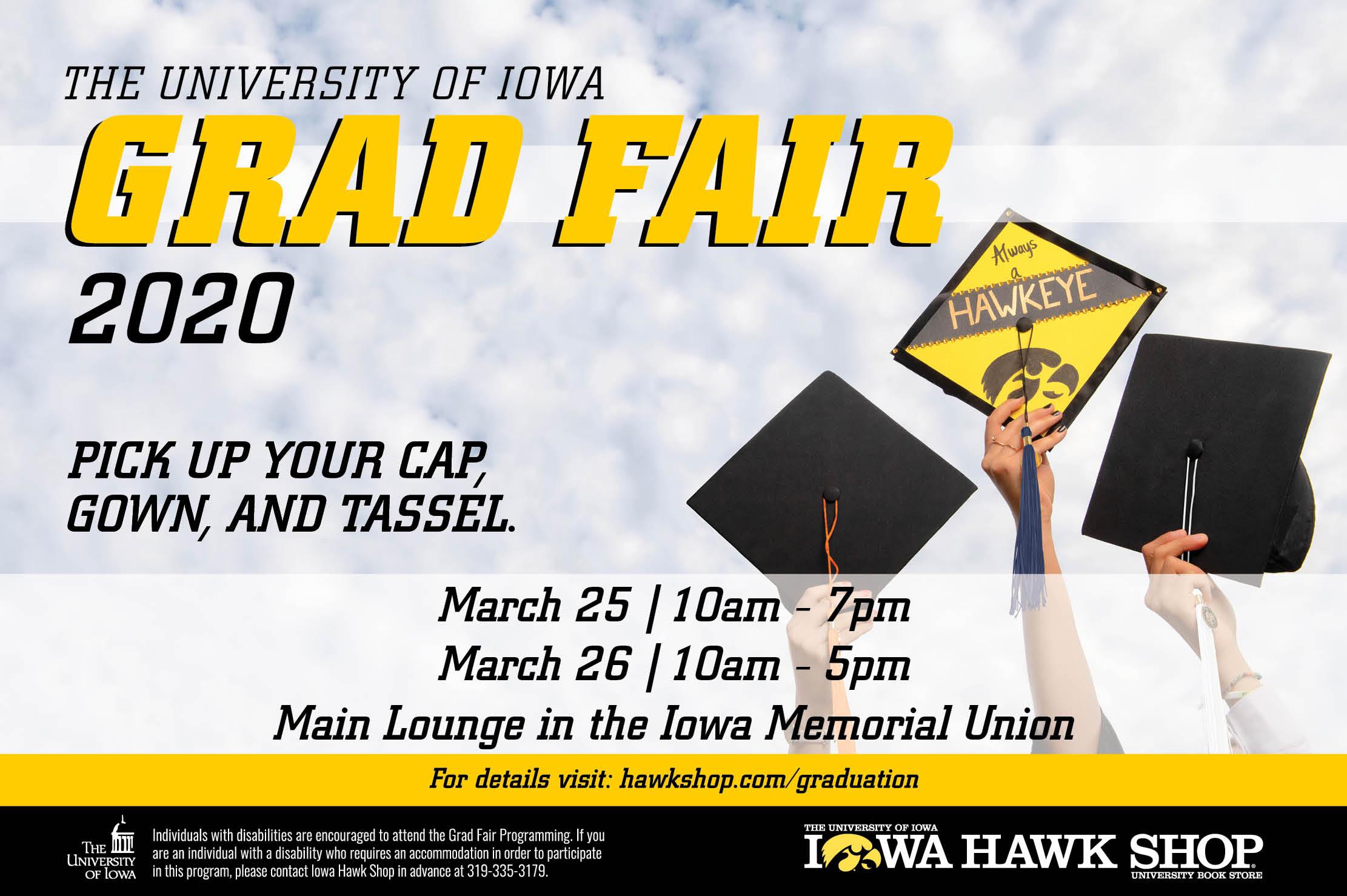 Spring 2020 Grad Fair Flyer