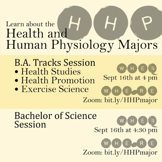 Health & Human Physiology Information Session invitation