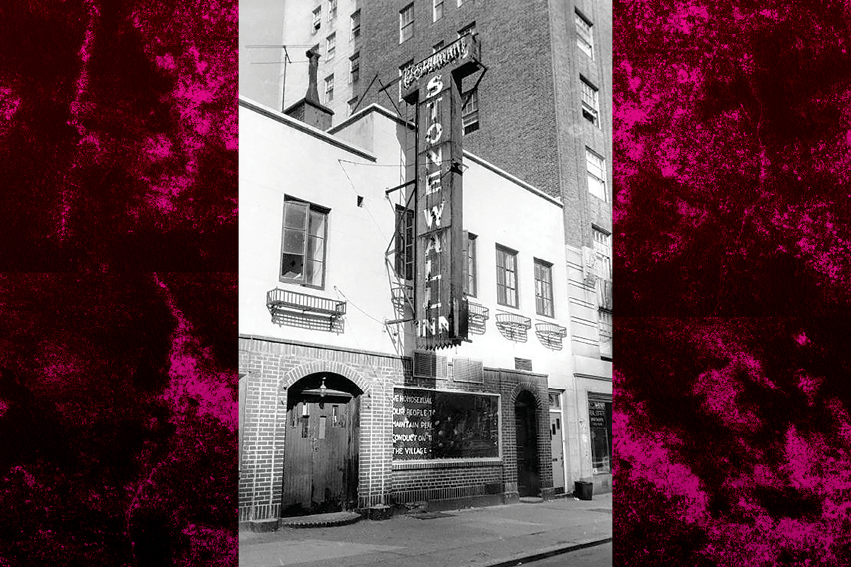 Hit the Wall poster image. Photo of The Stonewall Inn.