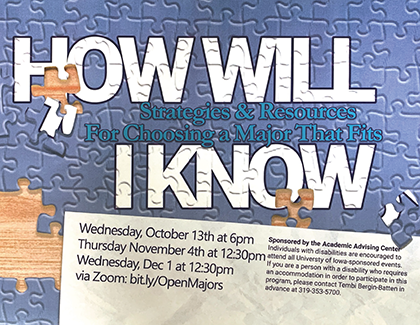 event flyer for How Will I know