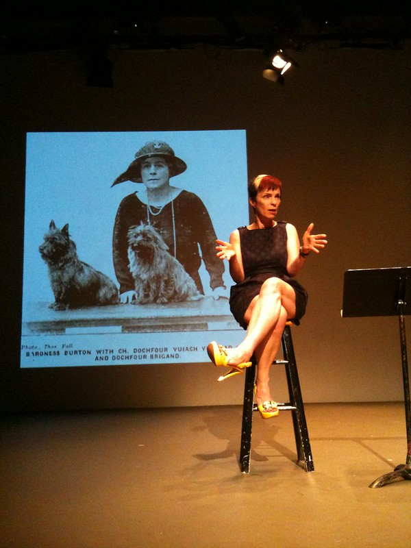 Holly Hughes in performance