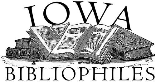 Logo of Iowa Bibliophiles, open books