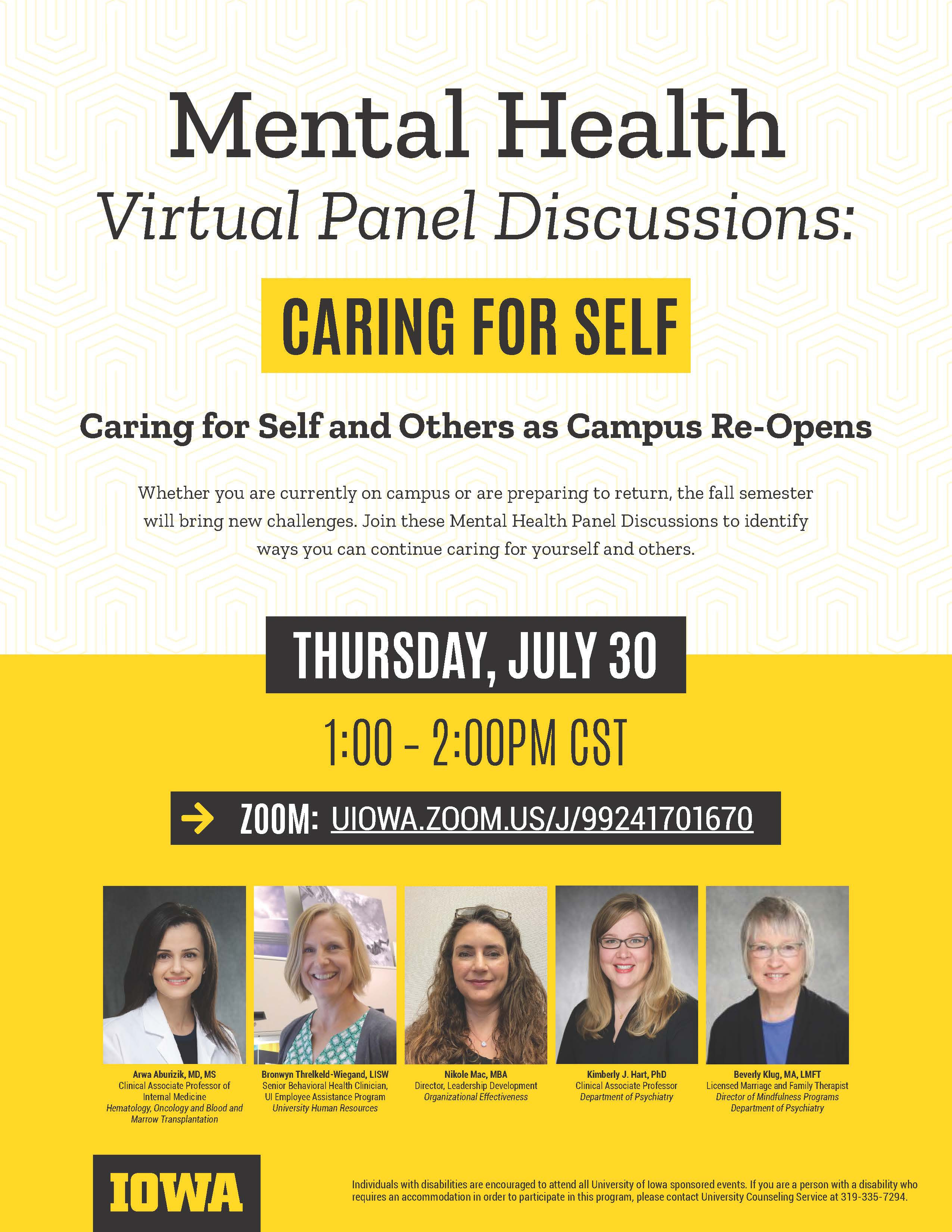 Mental Health Virtual Panel Discussion Caring For Self