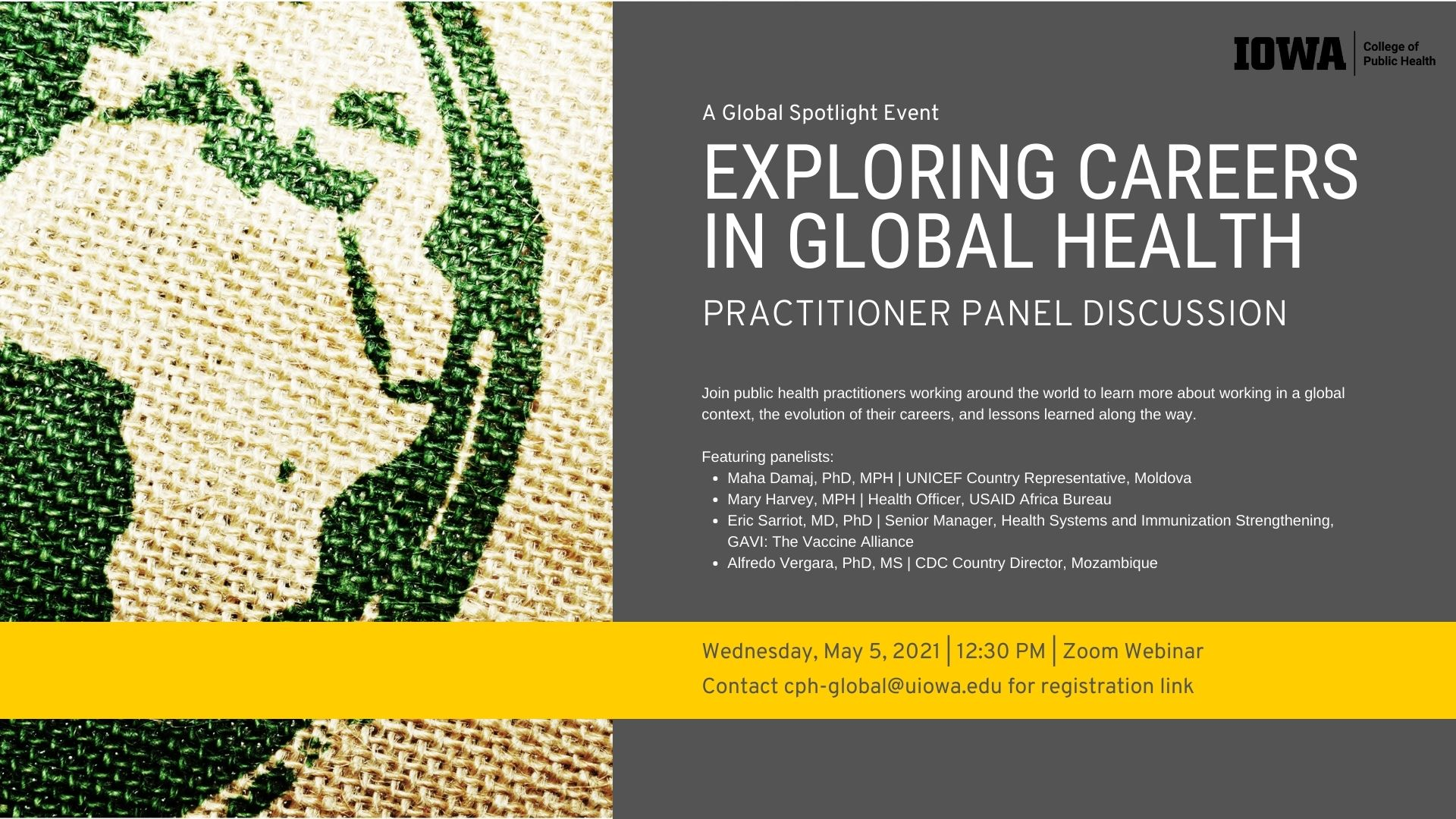 Exploring Careers in Global Health: A Panel Discussion promotional image