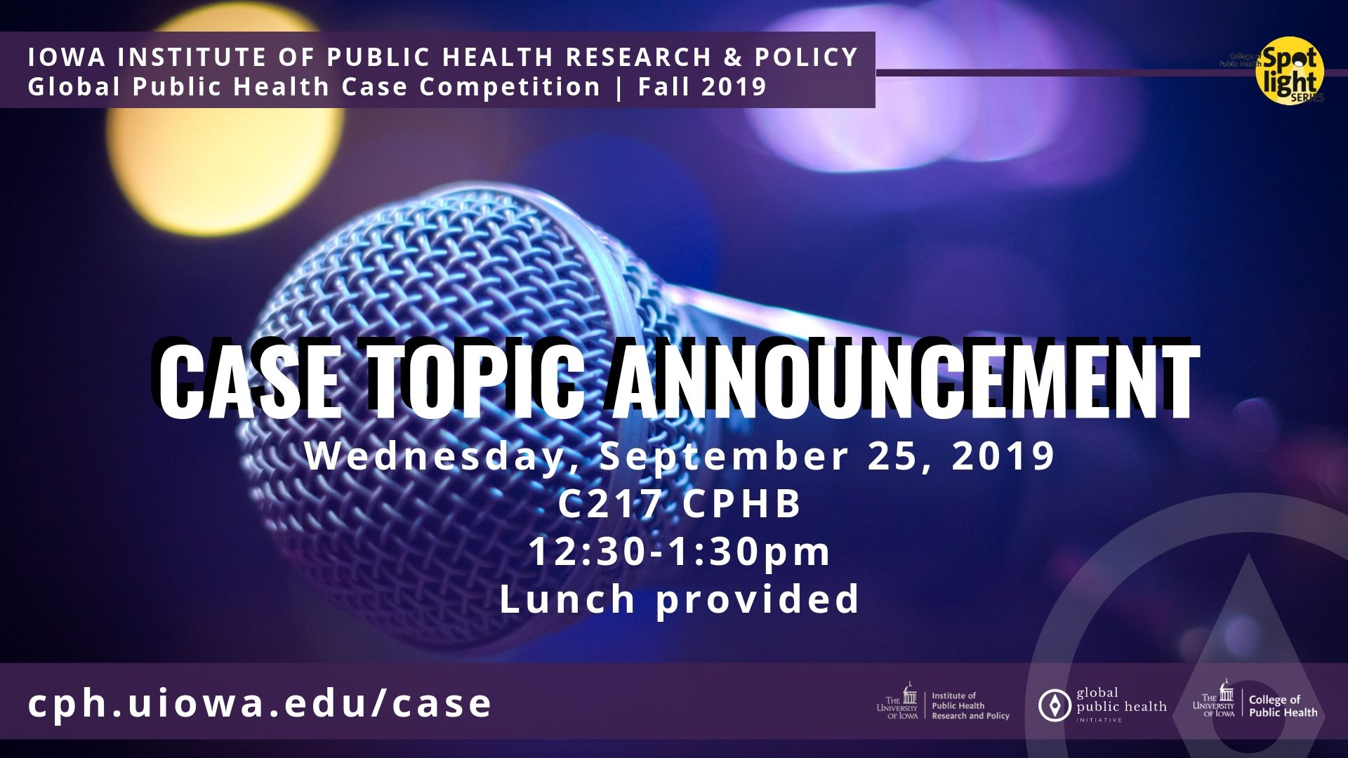 IIPHRP Annual Global Health Case Competition Announcement