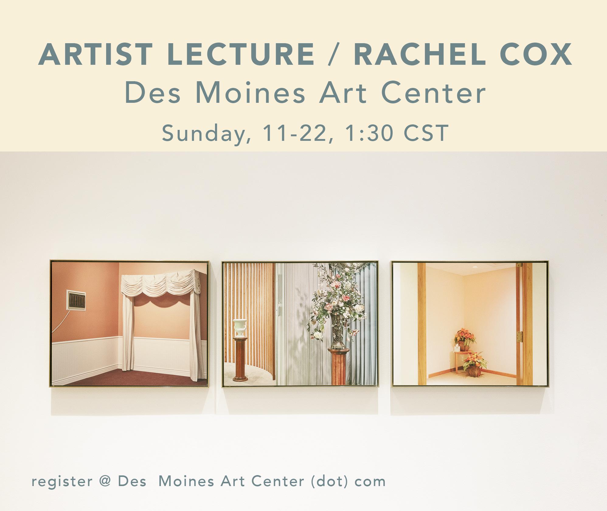 Artist Lecture / Rachel Cox