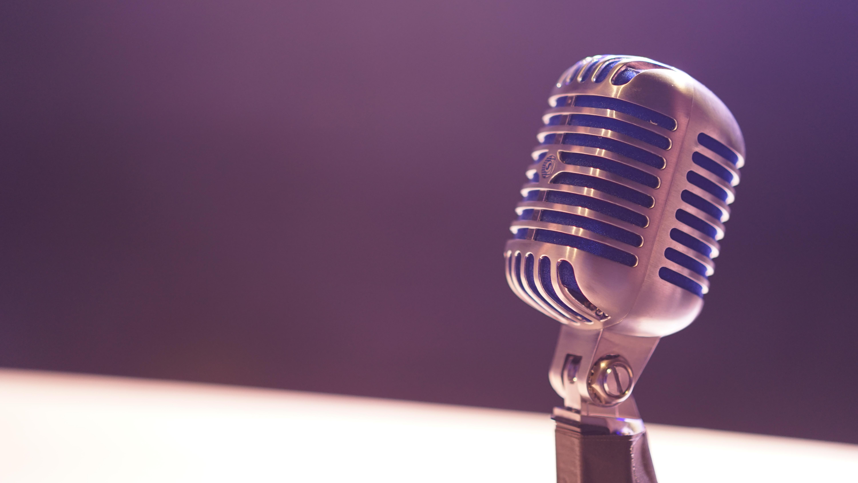 microphone, speaking