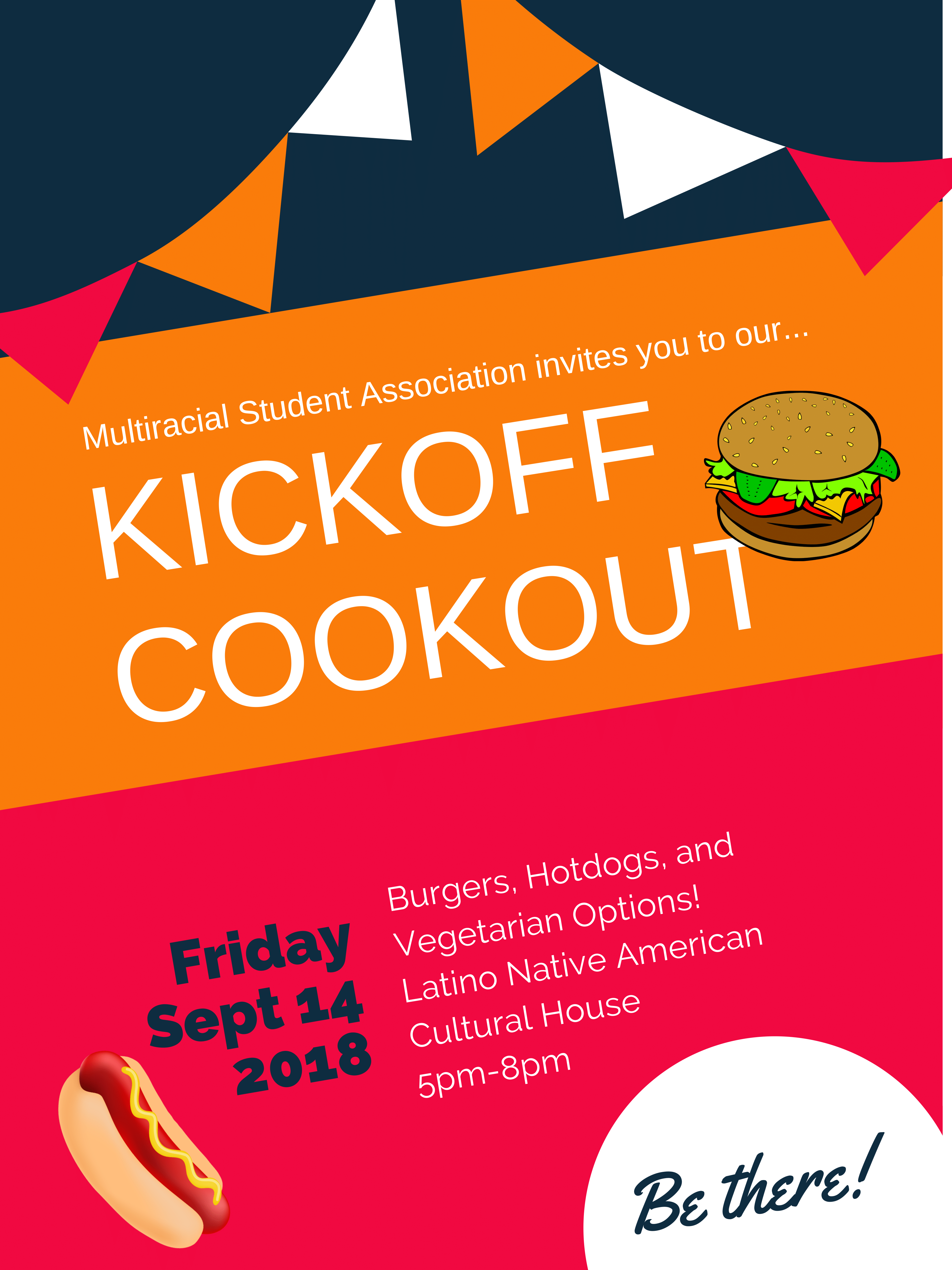 Multiracial Student Association Cookout Poster
