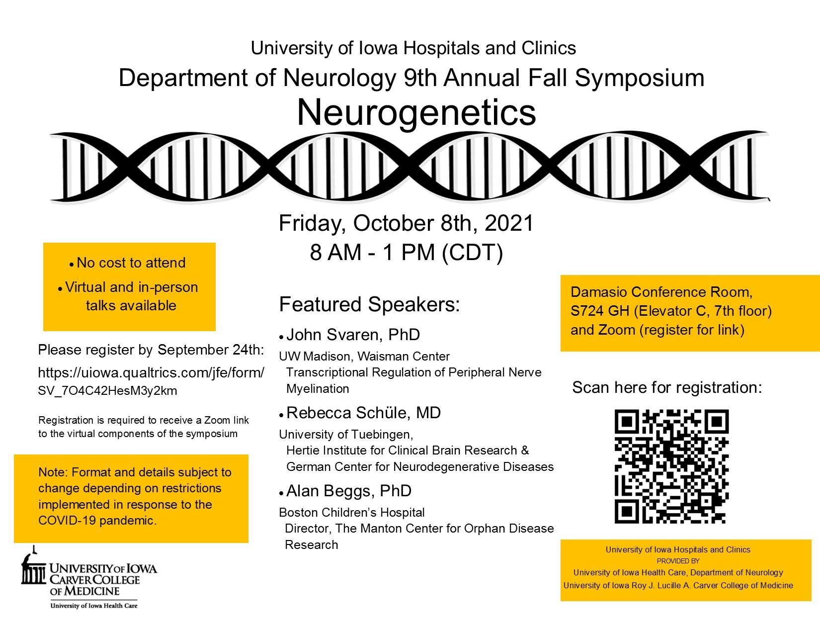 Neurogenetics Symposium Flyer 2021