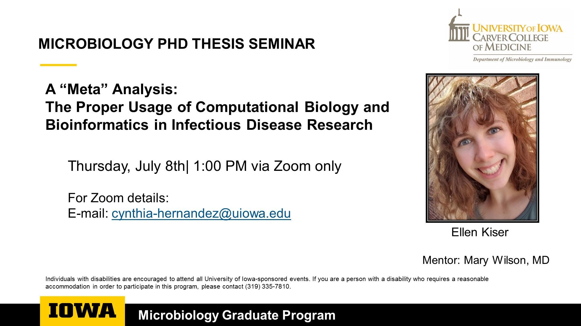 PhD Candidate Seminar - Kelsie Nauta promotional image