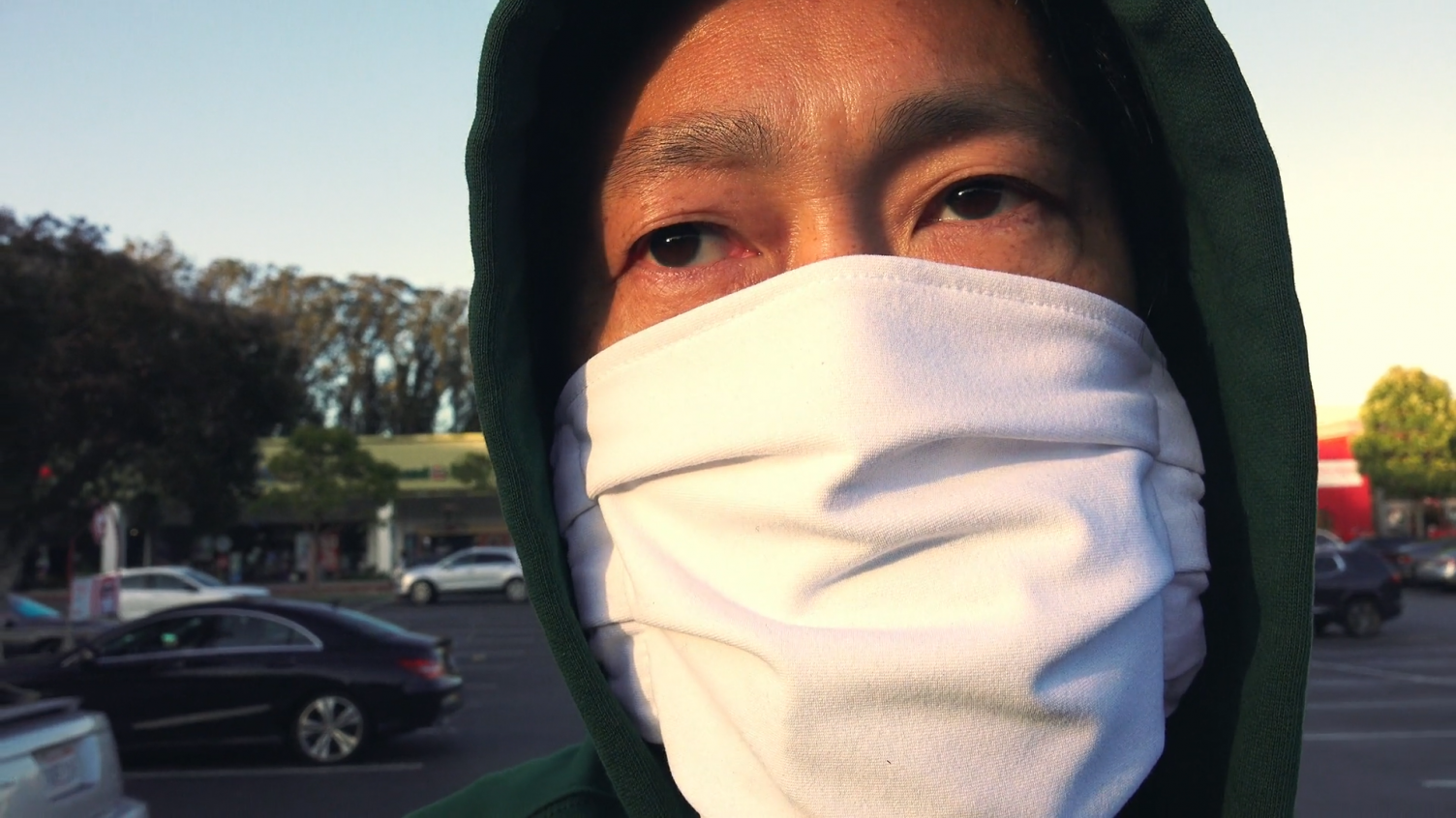Asian American in medical mask