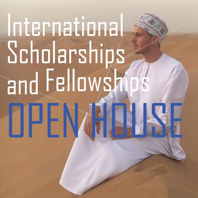International Scholarships and Fellowships Open House Wednesday, Sept 25