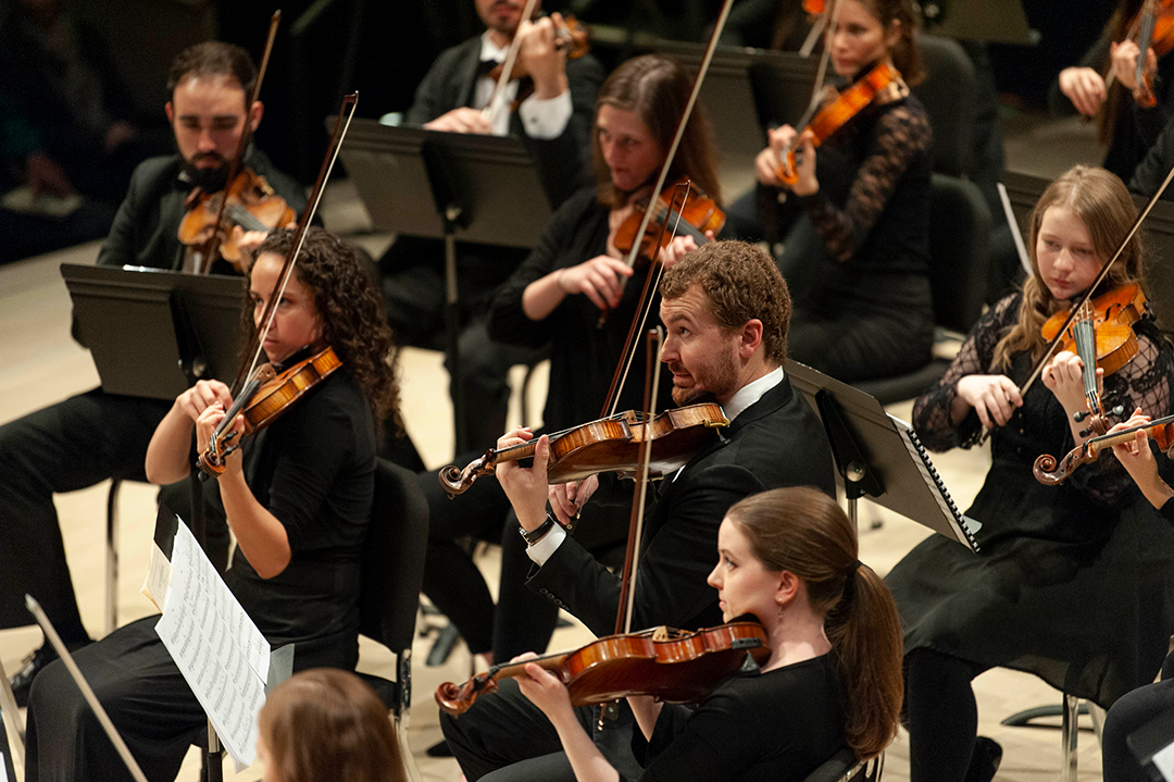 UI orchestra performing in concert