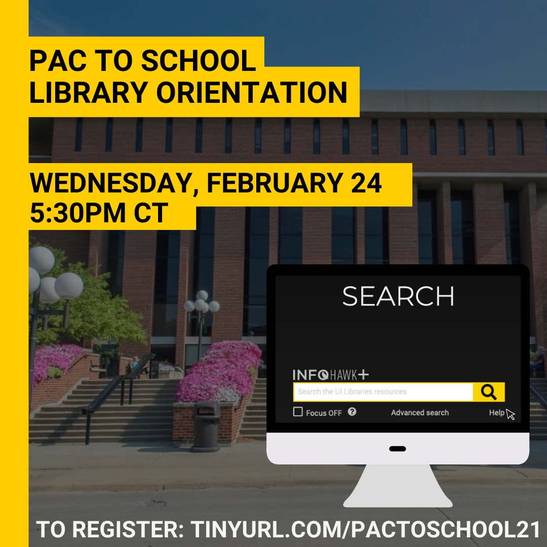 PAC to School: Library Orientation