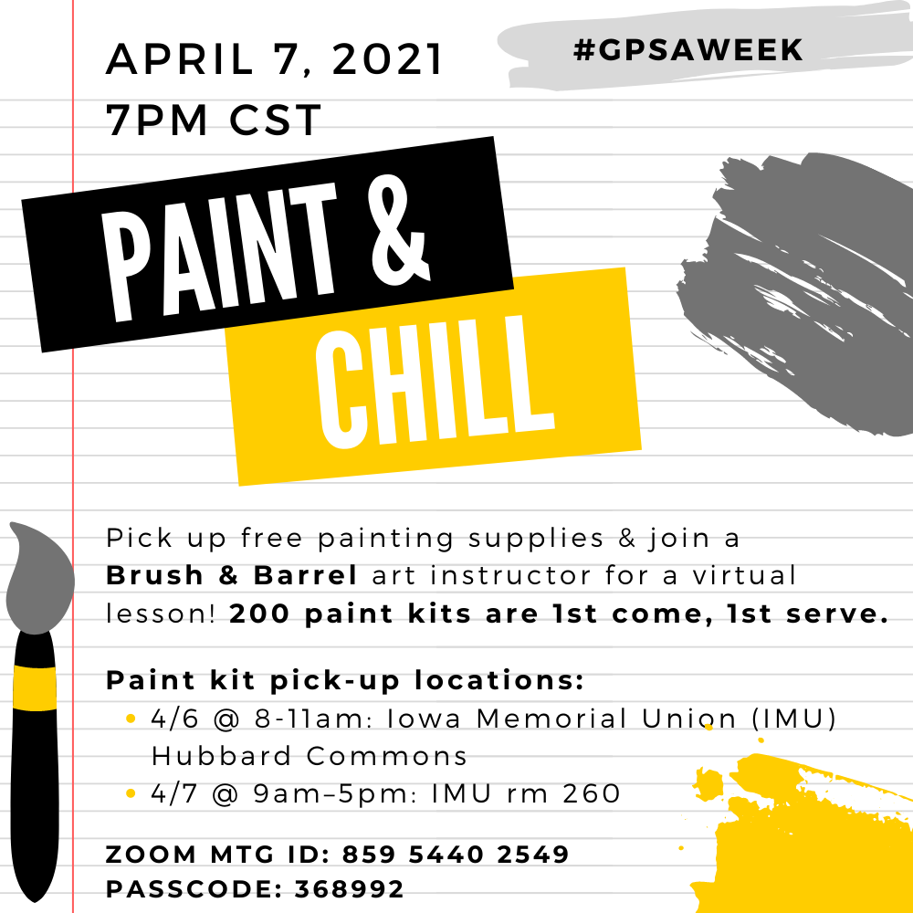 GPSA Paint & Chill Night promotional image