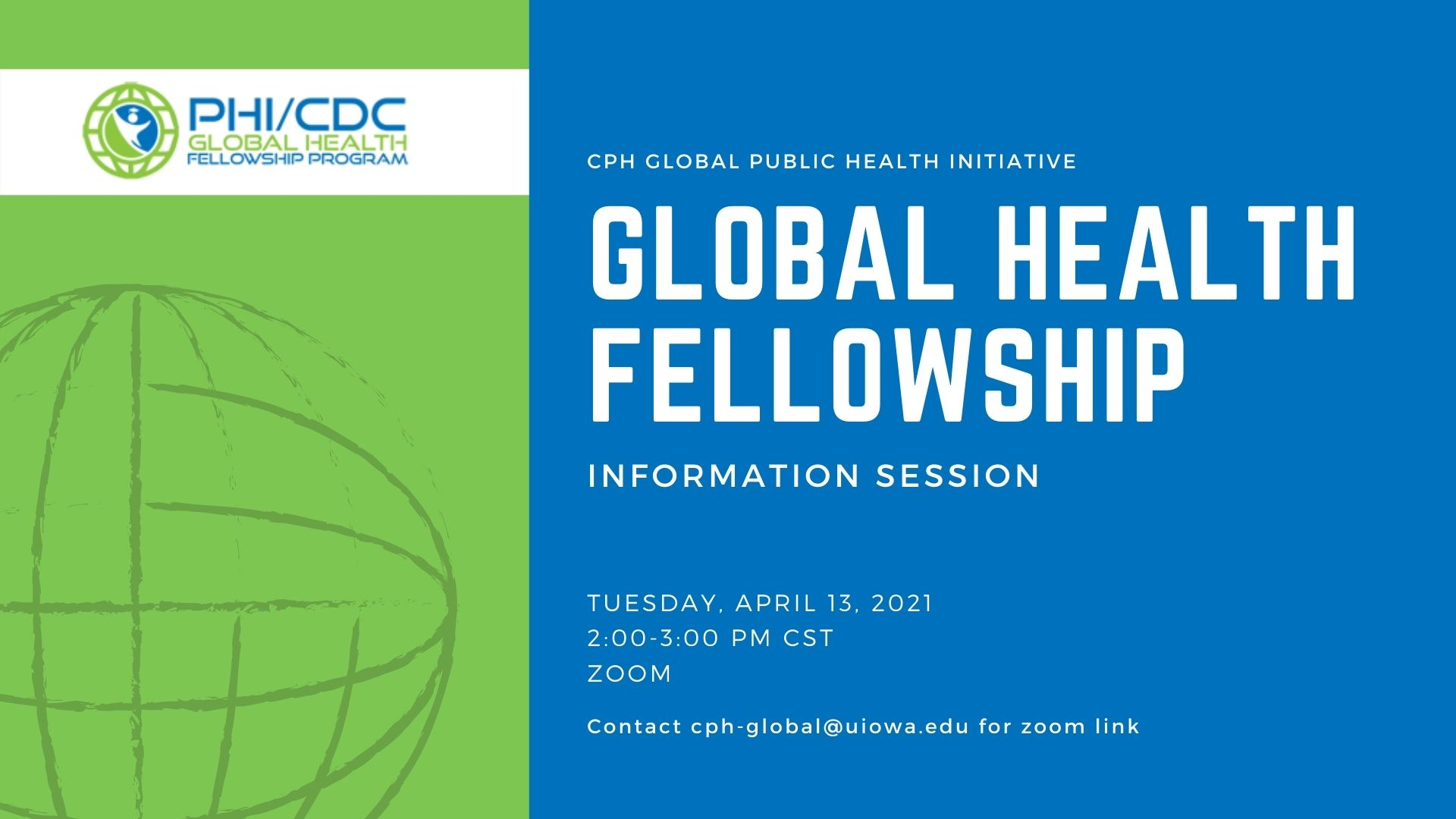 PHI CDC Global Health Information Session Logo and graphic
