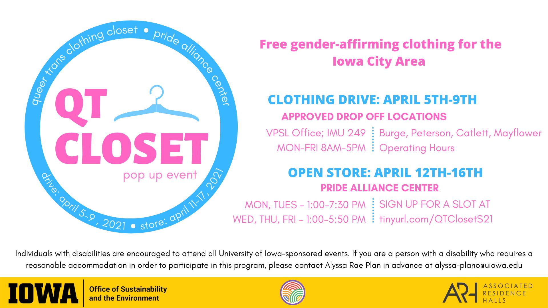 QT Closet Pop Up Event