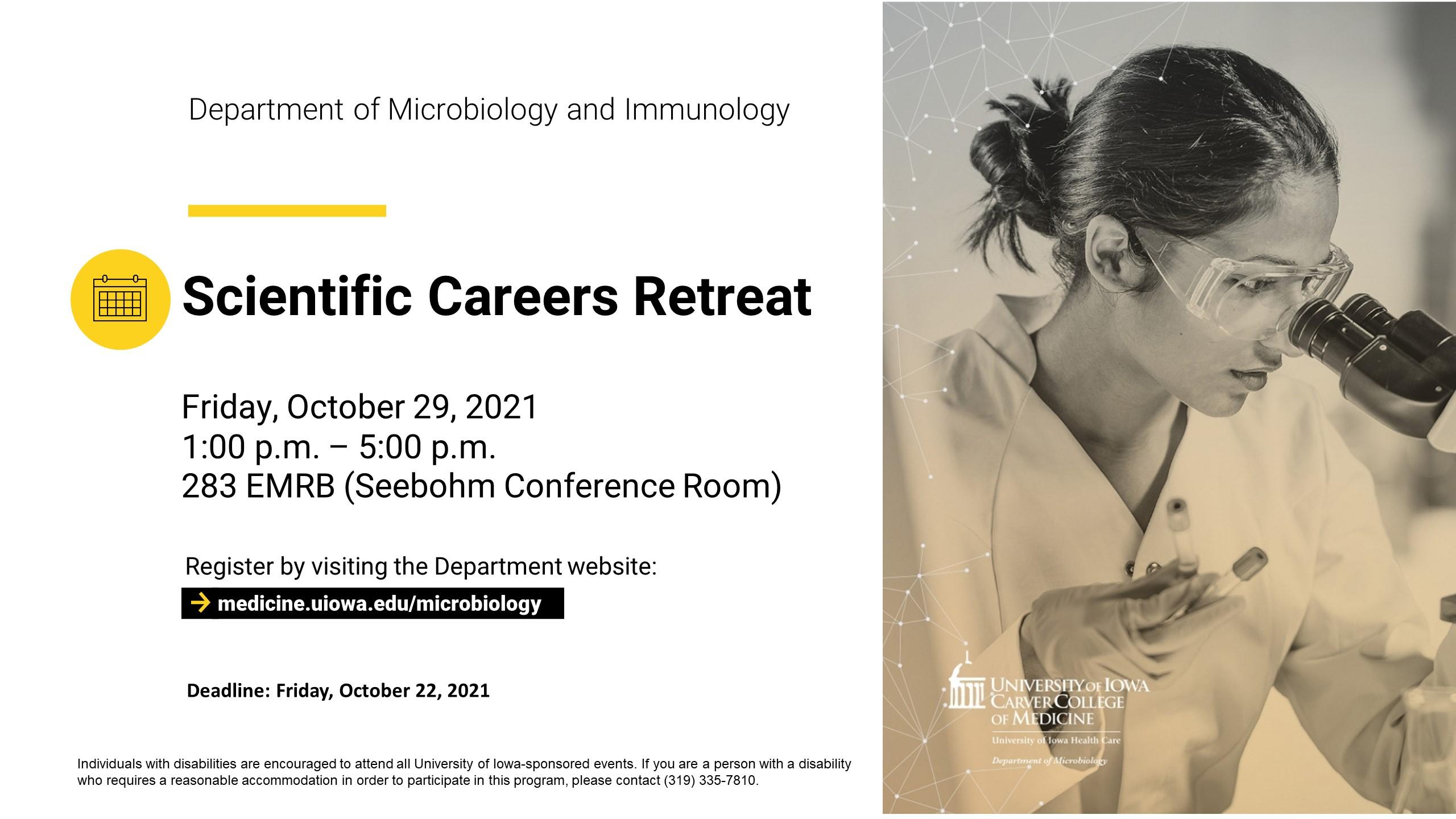 Scientific Careers Retreat promotional image