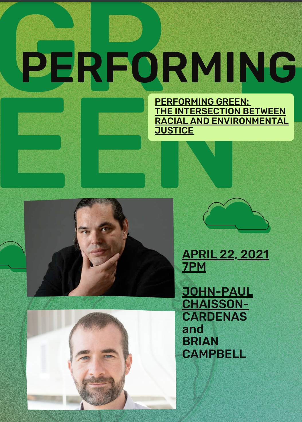 Performing Green: The Intersection Between Racial and Environmental Justice Poster