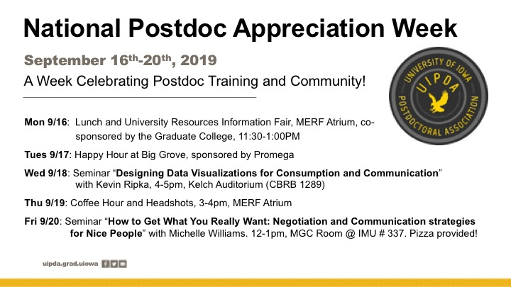 Postdoc Resource Fair and Lunch