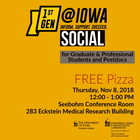 First Generation at Iowa Social for Graduate and Professional Students and Postdocs