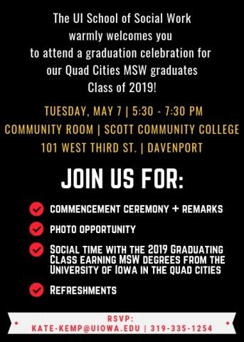 2019 graduation invite inside