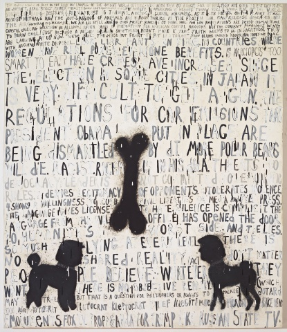 Painting by Squeak Carnwath