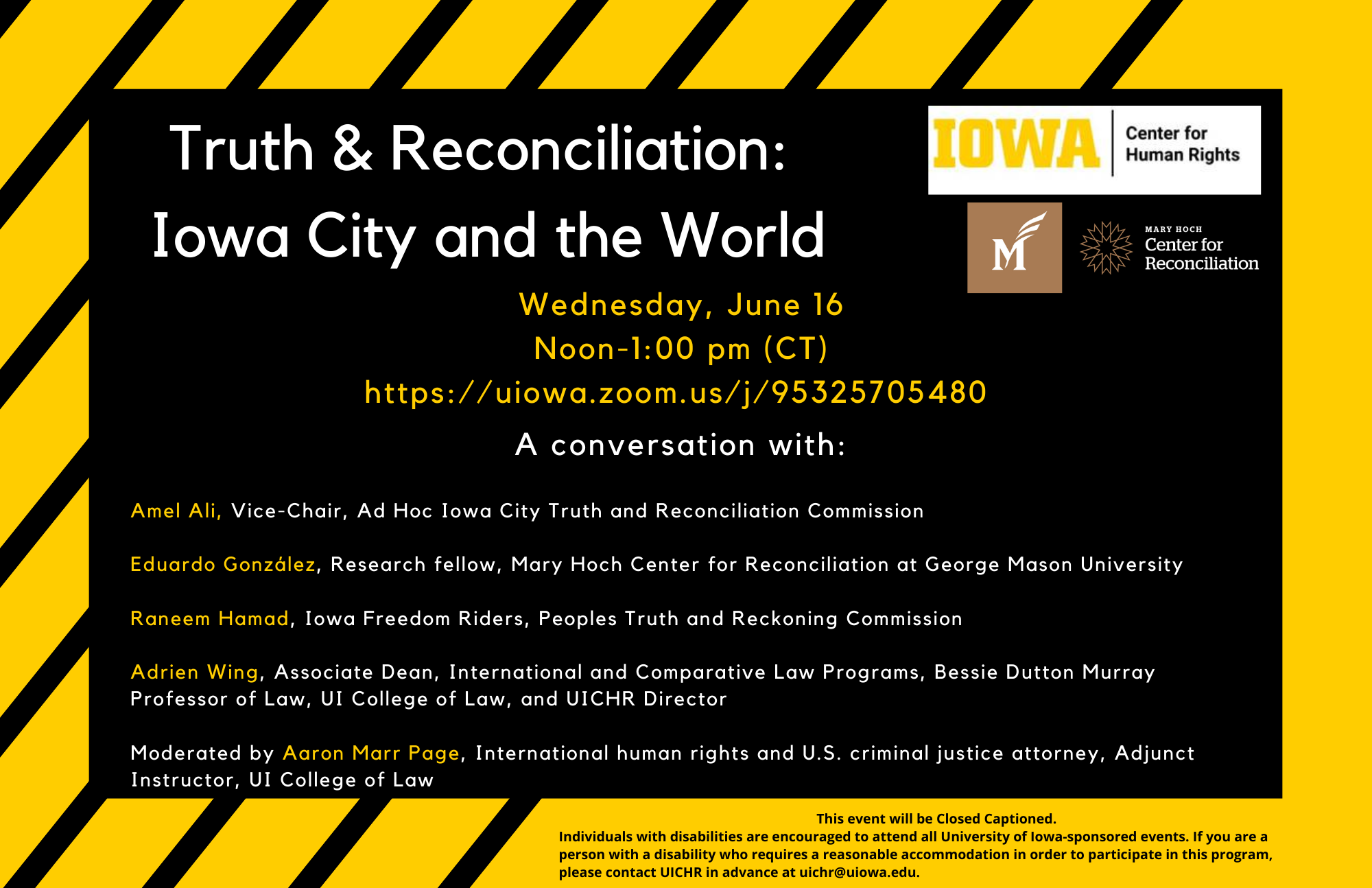 Truth and Reconciliation: Iowa City and the World