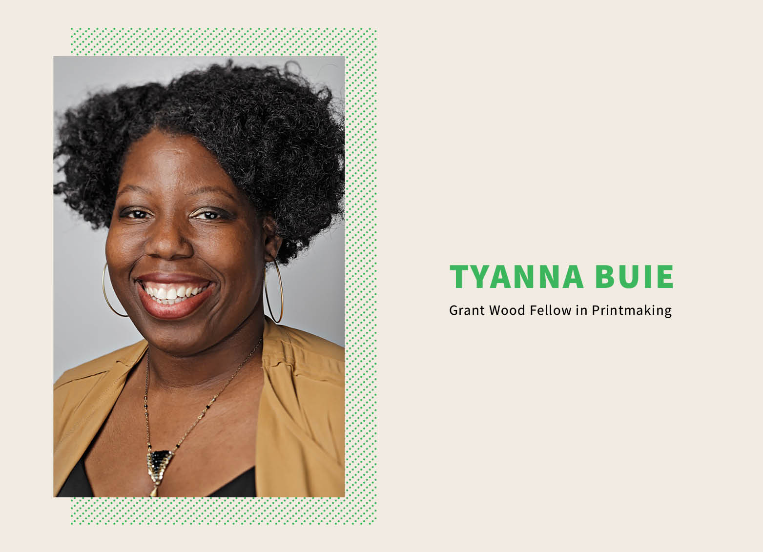 Talk by Tyanna Buie, Grant Wood Fellow in Printmaking