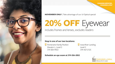 UI Optical Fall Sale promotional image