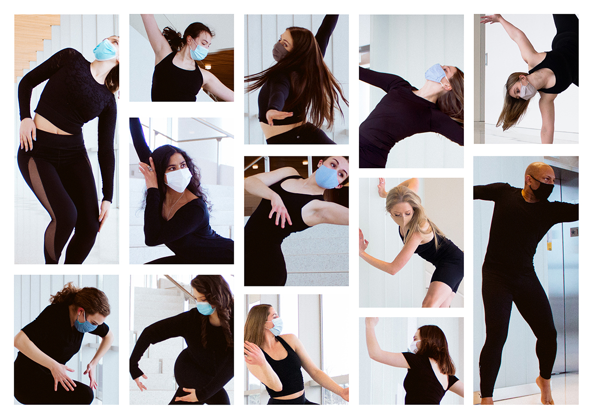 UI Dance Company photo collage of dancers